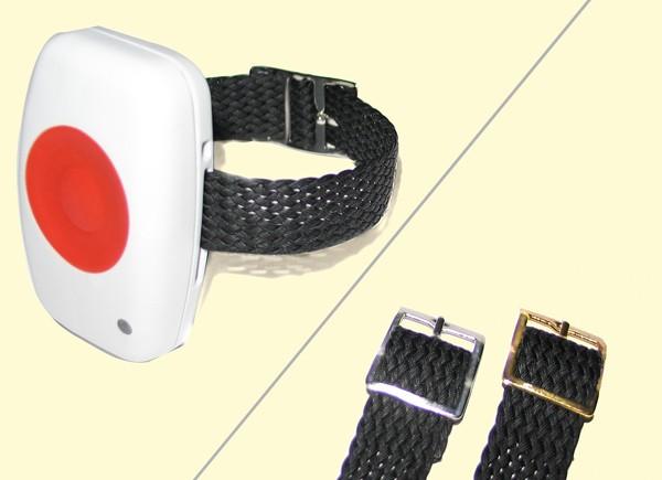 Armband für Notrufsender, 14mm breit Farbe der Dornschließe Gold