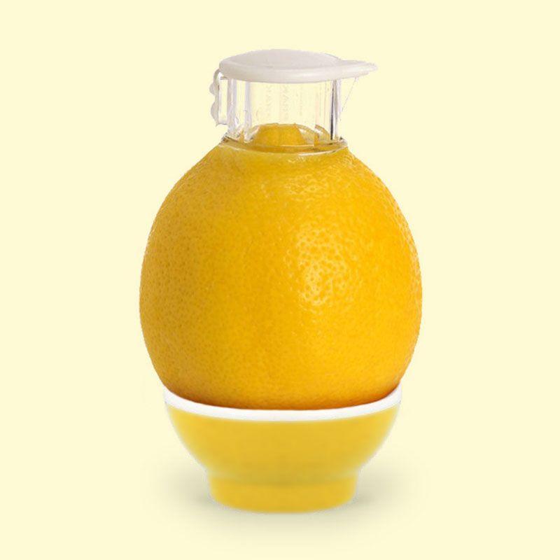 Zitronenausgießer Zitronensaftpresse mit Deckel